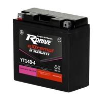 Мото аккумулятор RDRIVE eXtremal Iridium YT14B-4