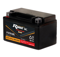 МОТО АККУМУЛЯТОР RDRIVE EXTREMAL GOLD YTX7A-BS