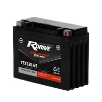 МОТО АККУМУЛЯТОР RDRIVE EXTREMAL SILVER YTX18L-BS