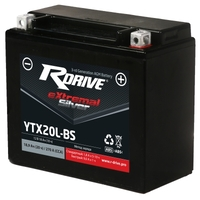 МОТО АККУМУЛЯТОР RDRIVE EXTREMAL SILVER YTX20L-BS